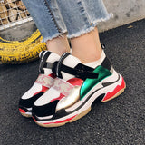 Mixed colors women's sneakers