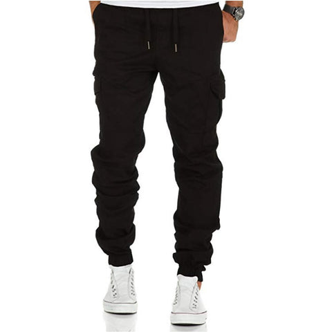 Solid Multi-pocket Sweatpants