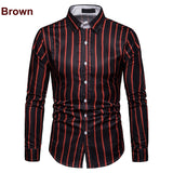 Smart Casual Striped Long Sleeve Shirt
