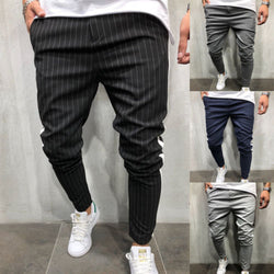 Stripe Urban Straight Casual Sweatpants