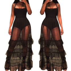 Women's Sheer Maxi Dress