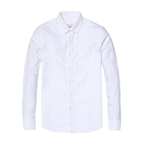 SIMWOOD Casual Shirts Men's 100% Pure Cotton Slim Fit