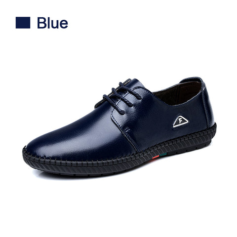 SUROM Fashion Leather Men's Casual Shoes
