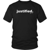 Justified. Rom 8:30 - Unisex T-Shirt