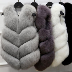 Women's Winter Casual Fur Vest