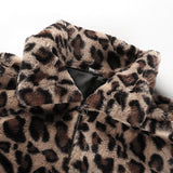 Women's Thick Leopard Coat