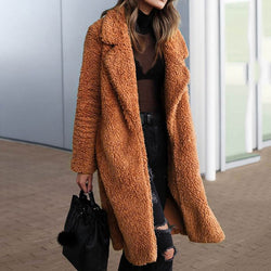 Women's Fashion Long Fur Coat