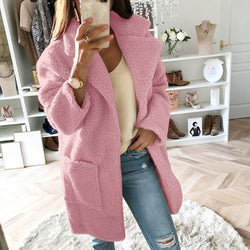 Women's Mid Long Fur Coat