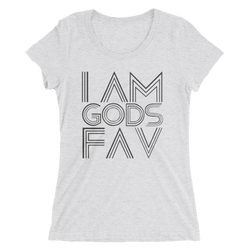 I AM GOD'S FAV - Ladies' short sleeve t-shirt