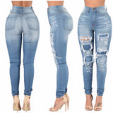 Ripped and Patched Swann - Signature Collection Women's Custom Ripped, Faded and Patched Jeans