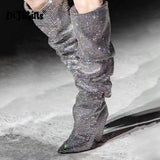 Women's Luxury Glitter Knee High Boots