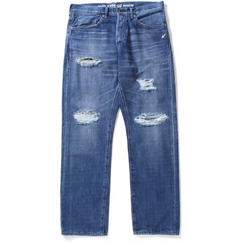 1999 TYPE-02 WASHED DENIM PANTS M