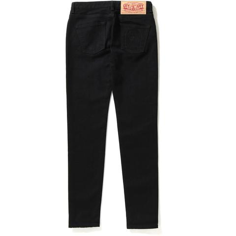 APE HEAD WASHED SKINNY DENIM PANTS LADIES