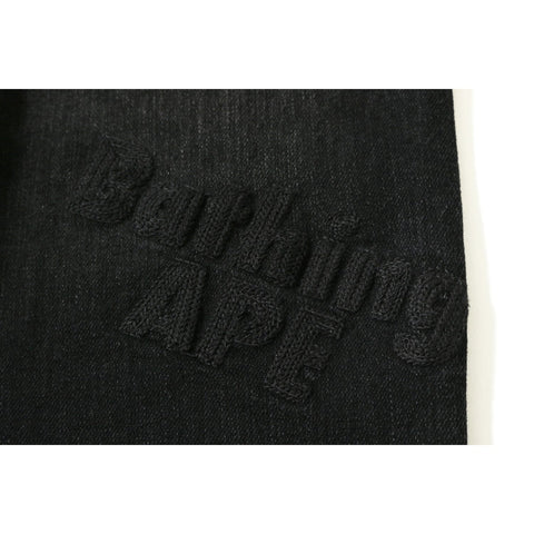 BATHING APE DAMAGED SKINNY DENIM PANTS LADIES