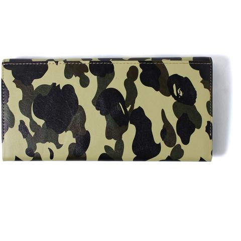 1ST CAMO LEATHER LONG WALLET MENS