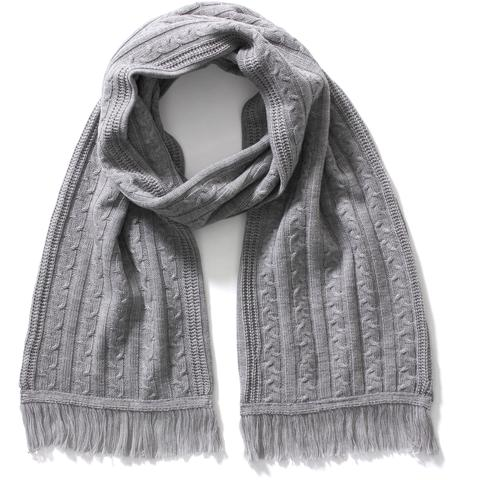 CABLE KNIT SCARF MENS