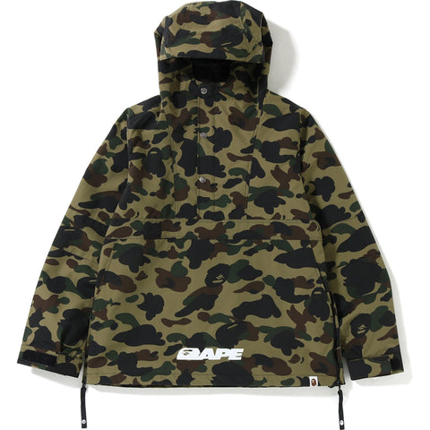 1ST CAMO BLOCK PULLOVER HOODIE JACKET MENS
