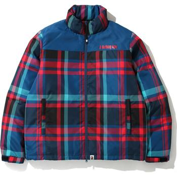 BAPE CHECK DOWN JACKET M
