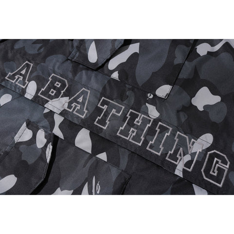 GRADATION CAMO MILITARY SHIRT JACKET M