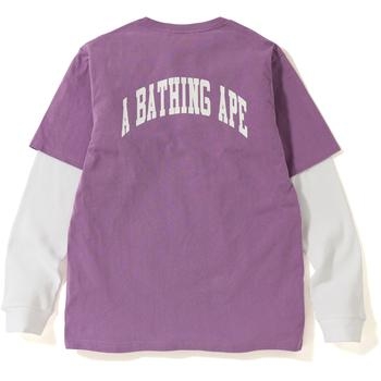 PASTEL COLOR LAYERED L/S TEE MENS