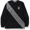 A BATHING APE MIX L/S TEE M