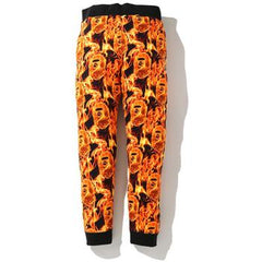 BAPE FLAME SLIM SWEAT PANTS M