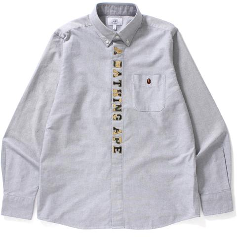 1ST CAMO APPLIQUE OXFORD BD SHIRT MENS