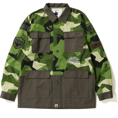 SPLINTER CAMO MILITARY SHIRT M