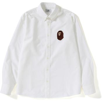 RELAXED LARGE APE HEAD OXFORD SHIRT M