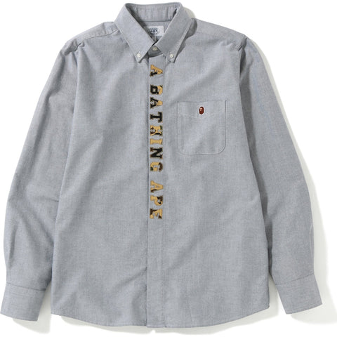 1ST CAMO APPLIQUE OXFORD BD SHIRT M