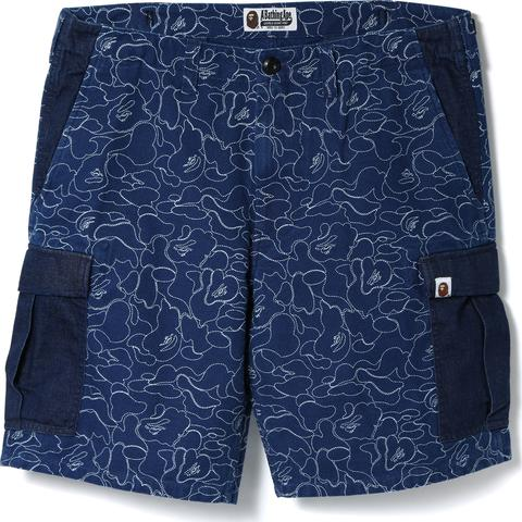 INDIGO 6POCKET SHORTS M