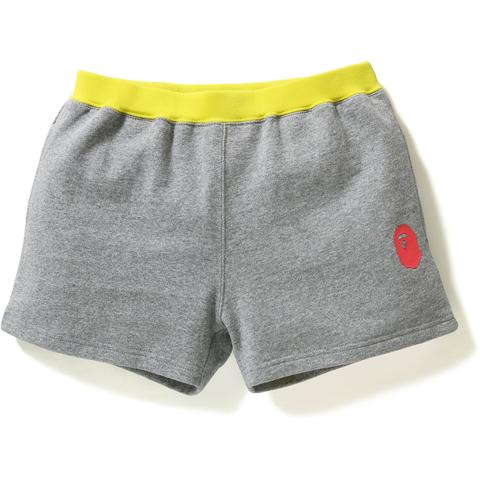 COLOR BLOCK SWEAT SHORTS LADIES