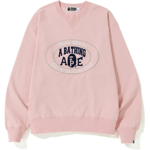RELAXED COLLEGE LOGO CREWNECK MENS
