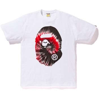 TIE DYE BIG APE HEAD TEE M