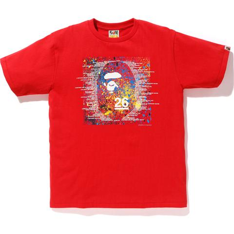 BAPE 26TH ANNIVERSARY TEE MENS