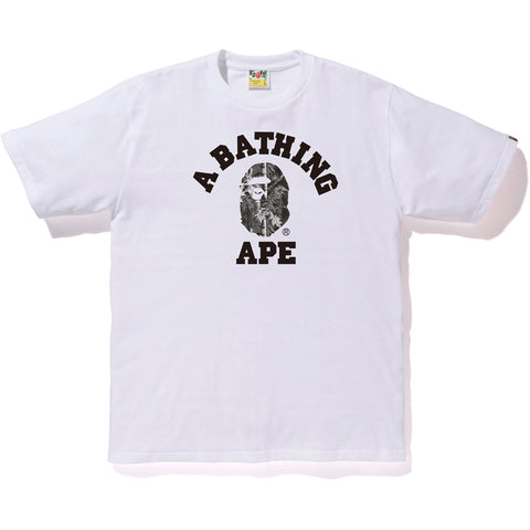 BAPE FOREST CAMO COLLEGE TEE MENS