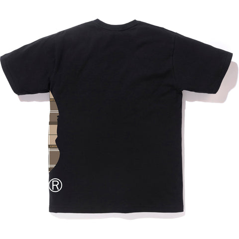 BAPE LOGO CHECK SIDE BIG APE HEAD TEE M