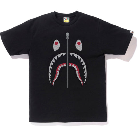 EMBROIDERY STYLE SHARK TEE MENS