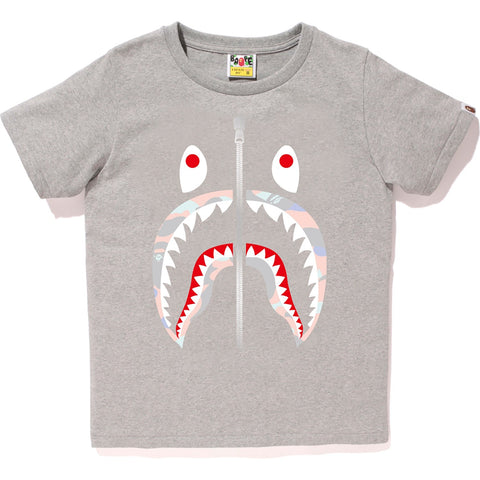 PASTEL MULTI CAMO SHARK TEE LADIES