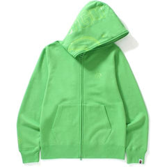 NEON COLOR SHARK FULL ZIP HOODIE M