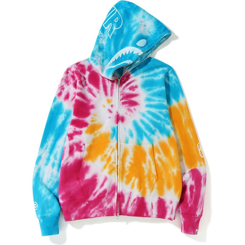 TIE DYE SHARK WIDE FULL ZIP HOODIE MENS