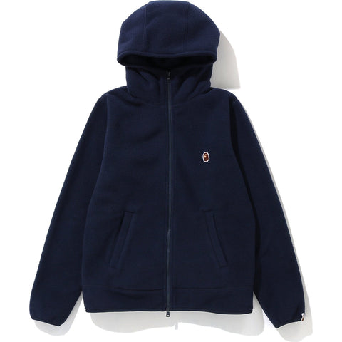 FLEECE ONE POINT ZIP HOODIE L