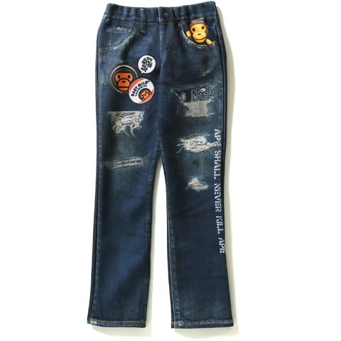 MILO DAMAGED DENIM PRINT PANTS KIDS