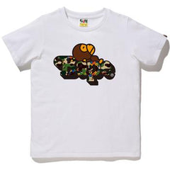 ABC FLOWER MILO ON BAPE TEE L