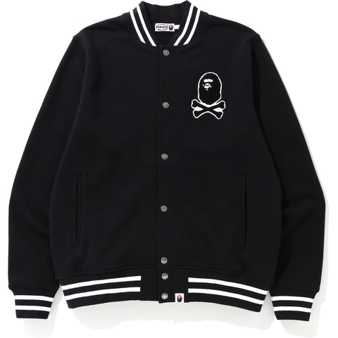 APE CROSSBONE SWEAT VARSITY JACKET MENS