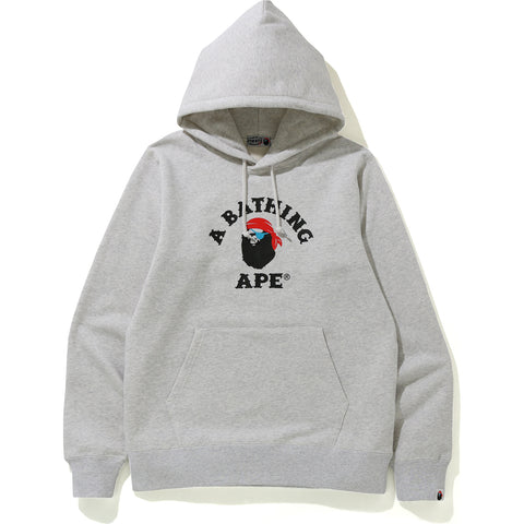 APE PIRATE COLLEGE PULLOVER HOODIE MENS