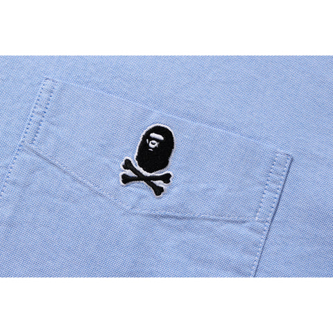 APE CROSSBONE OXFORD SHIRT MENS