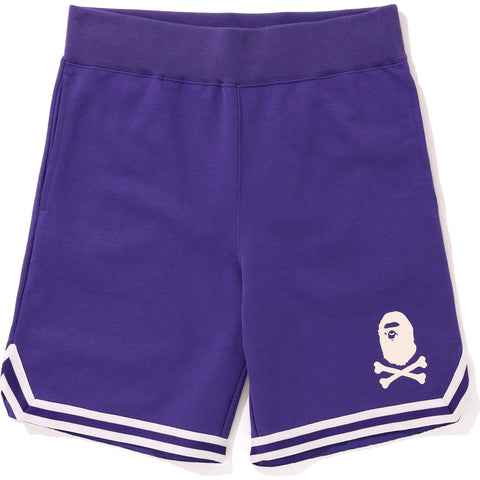 APE CROSSBONE BASKETBALL SWEAT SHORTS MENS