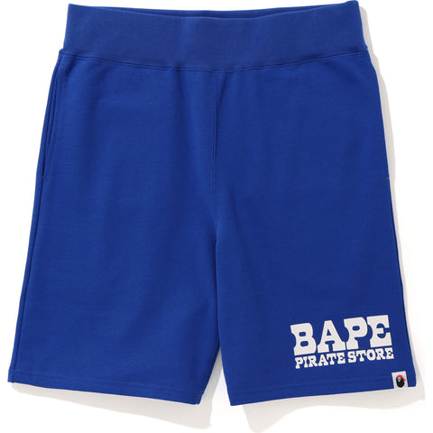 BAPE PIRATE STORE SWEAT SHORTS MENS