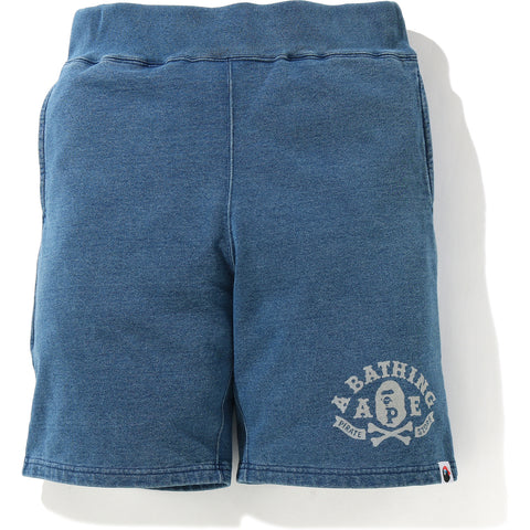 INDIGO APE CROSSBONE SWEAT SHORTS MENS